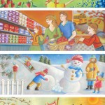 Newsletter banners | Danone Canada | Pastel on paper