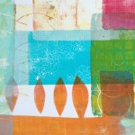 Poplars | Monoprint on paper