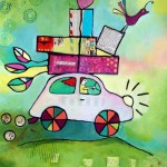 Hilary's Fiat | Mixed media