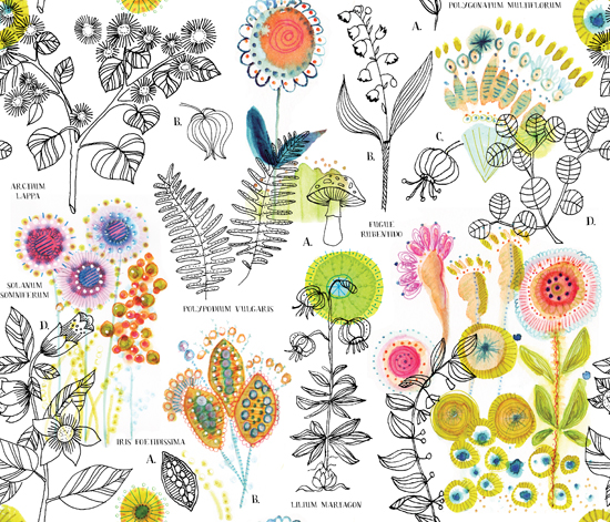 Multiflorum | Fabric8 finalist 2015 | Spoonflower and Moda Fabrics