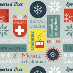 Retro Ski Badges | Spoonflower Retro Ski Contest