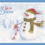 Let it Snow | Tin cover design for Cheryl's cookies