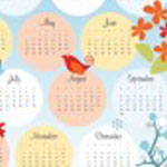 Four Season Tea Towel Calendar
