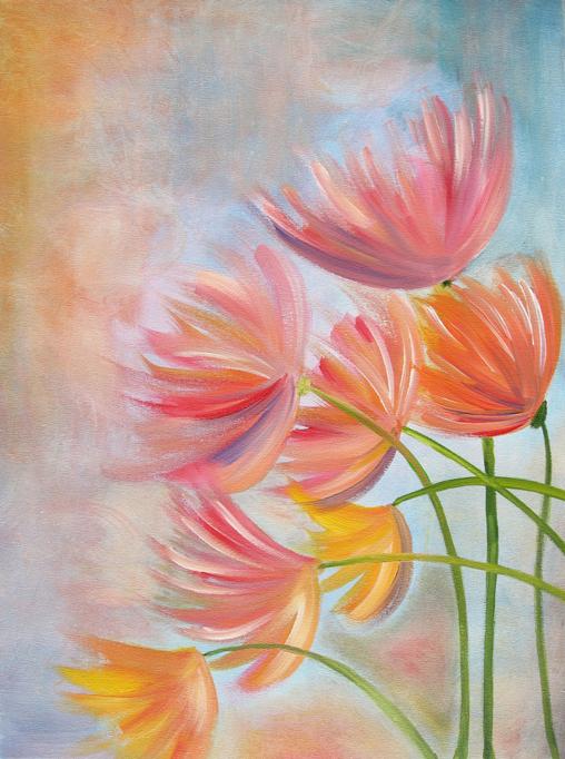 Wind Flowers | Acrylic on Canvas | 16 x 20